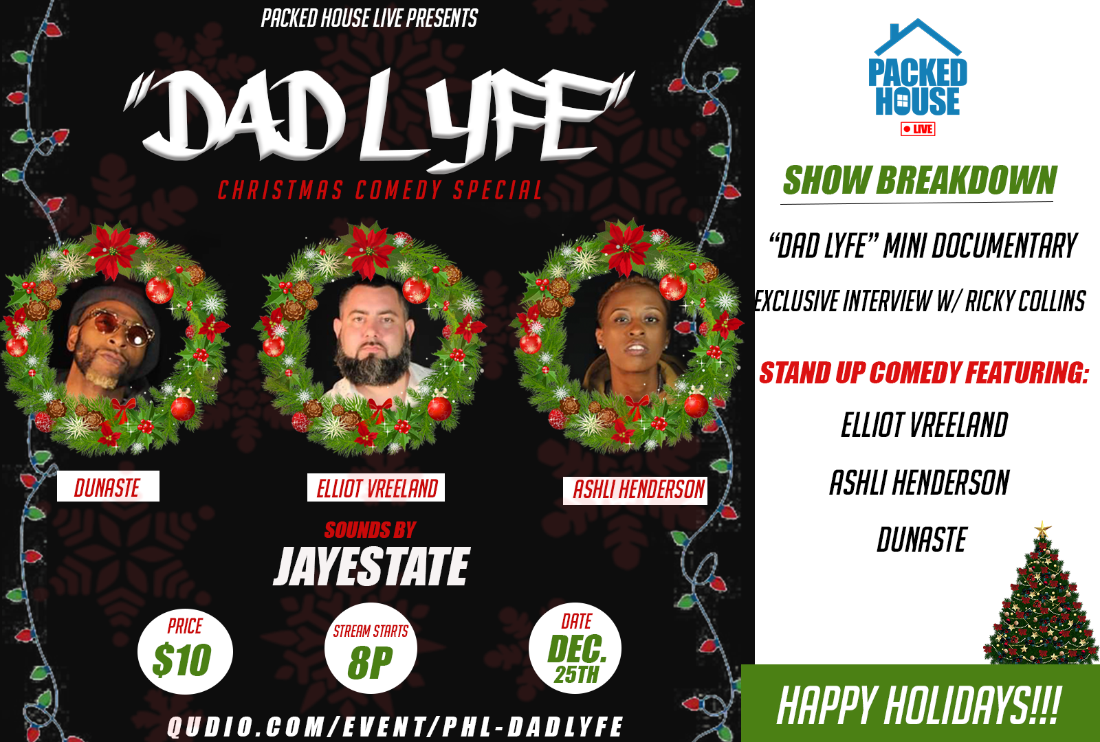 "Packed House Live Presents: ""DADLYFE"" Comedy Special w/ Elliot Vreeland"