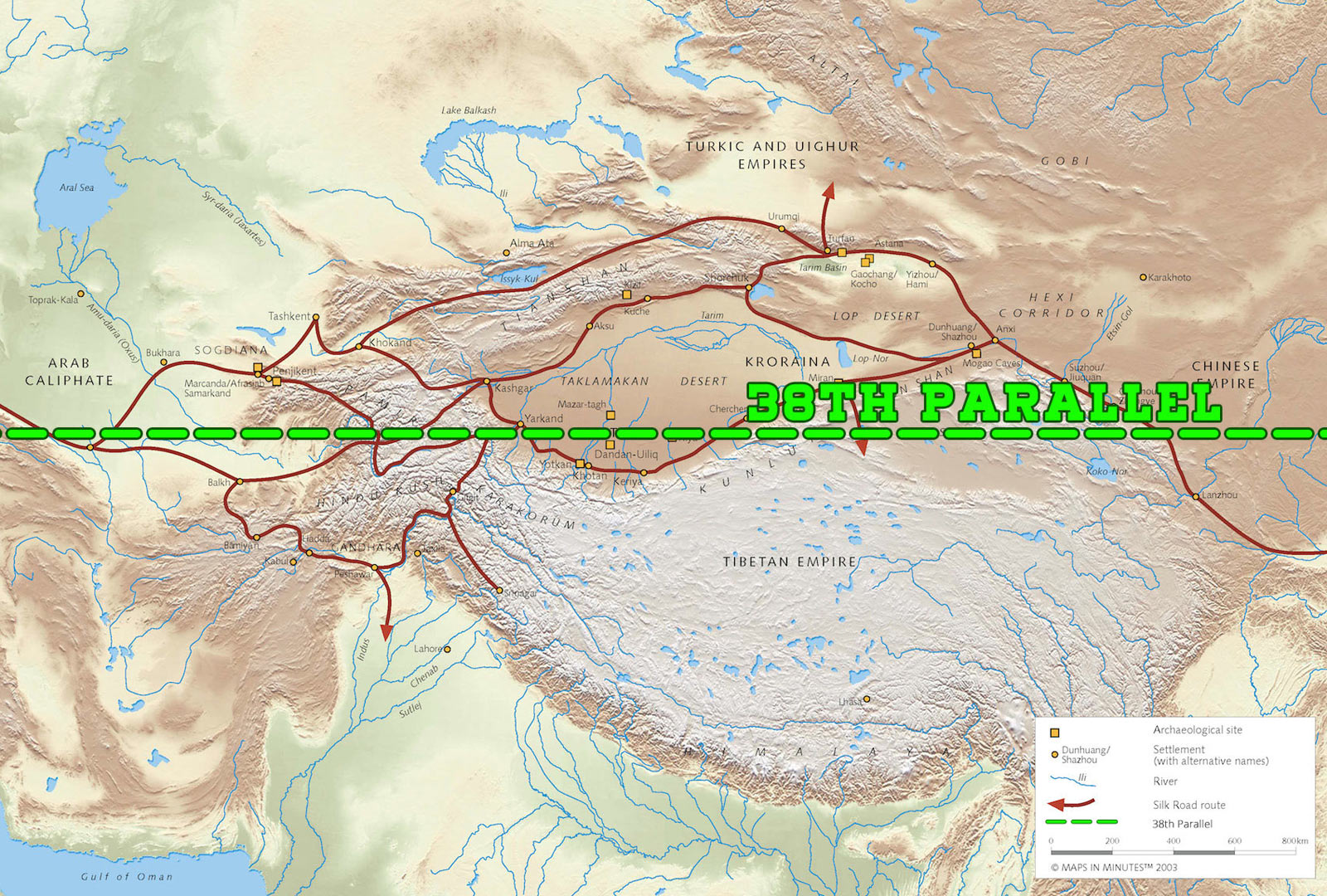 The 38th Parallel and the Silk Road
